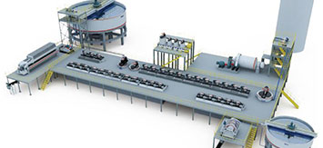 朝鲜2500t/d金尾矿浮选厂设计