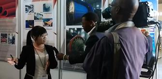 鑫海应邀参加津巴布韦矿业展并受到国家电视台专访
