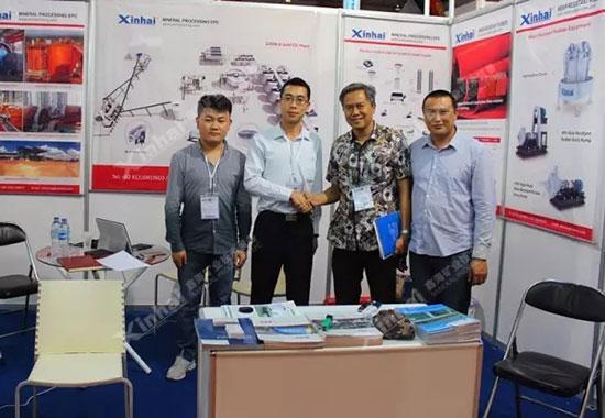 印尼国际矿业展上,我们凭借周到、细致的服务赢得了客户的信任