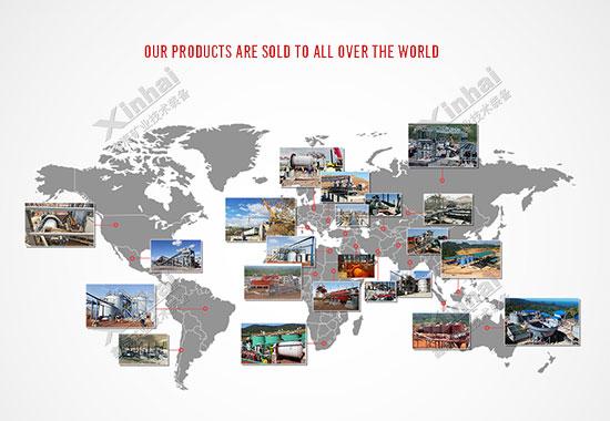 鑫海矿装-矿业全产业链服务案例全球分布图