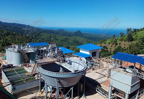 印度尼西亚100tpd金矿选厂项目案例