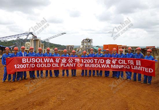 坦桑尼亚1200tpd金矿选厂项目案例