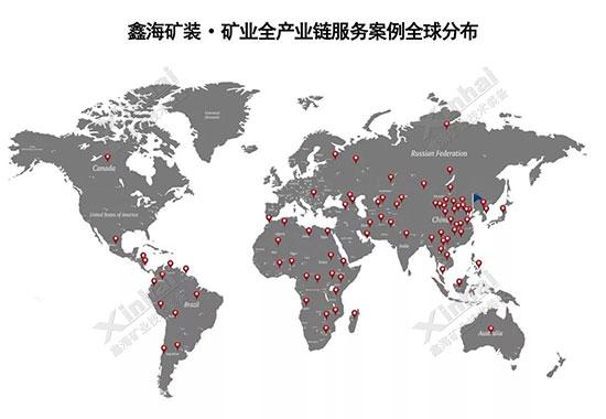 鑫海矿装-矿业全产业链服务EPC+M+O项目分布图